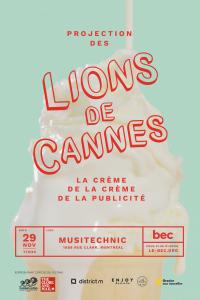 Affiche Lions de Cannes - Commanditaires